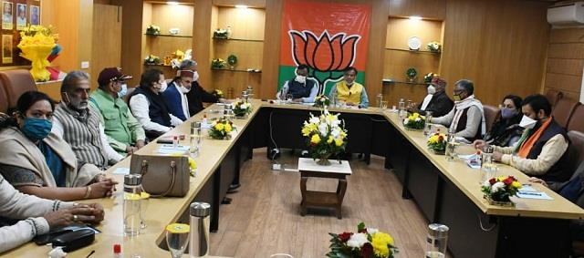 bjp haryana in charge vinod tawde on state visit