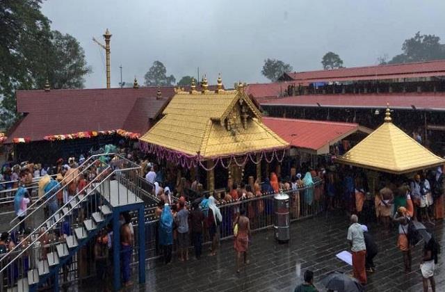 kerala the doors of the sabarimala temple open