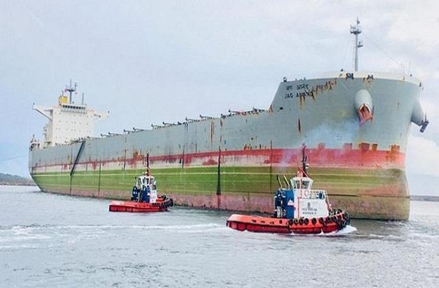china said  helping indian vessel stranded at jingtang port