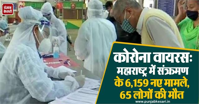 corona virus 6 159 new cases of infection in maharashtra 65 people die