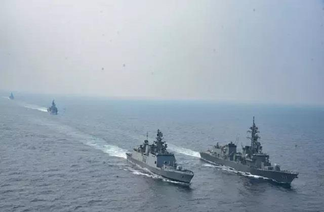 navy india us japan start practice in the bay of bengal counter to china