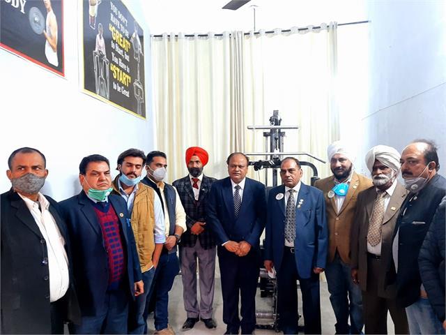 lions club inaugurates gym at mundia kalan government school