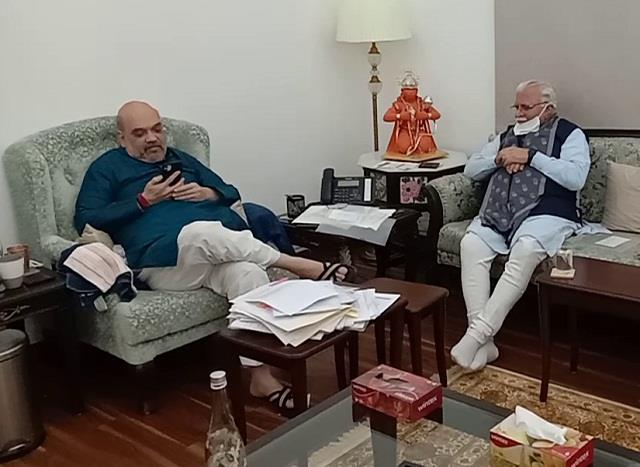 big news from delhi chief minister manohar met home minister shah
