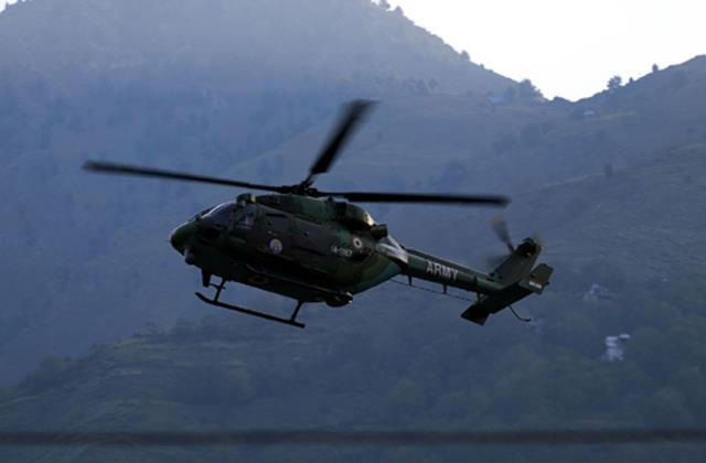 government sent a helicopter relief to fire victims in leh
