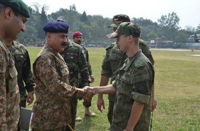 russian security forces reached pakistan for joint military exercises