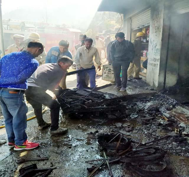 fire in auto workshop