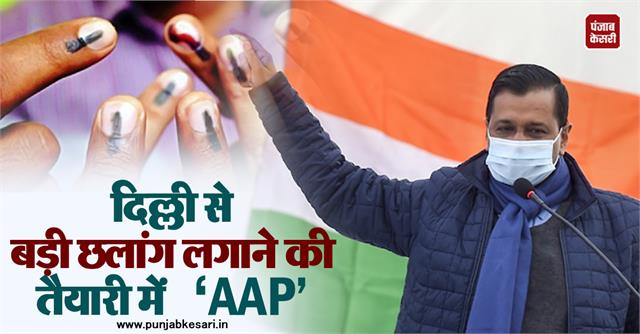 aap in preparation for a big leap from delhi
