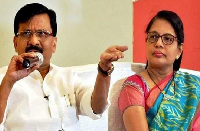 shiv sena mp sanjay raut wife varsha enforcement directorate