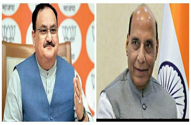 rajnath singh and jp nadda will declare three years of government