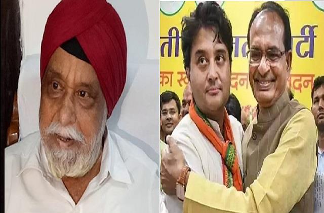 scindia s gift to bjp former minister sartaj returns to bjp