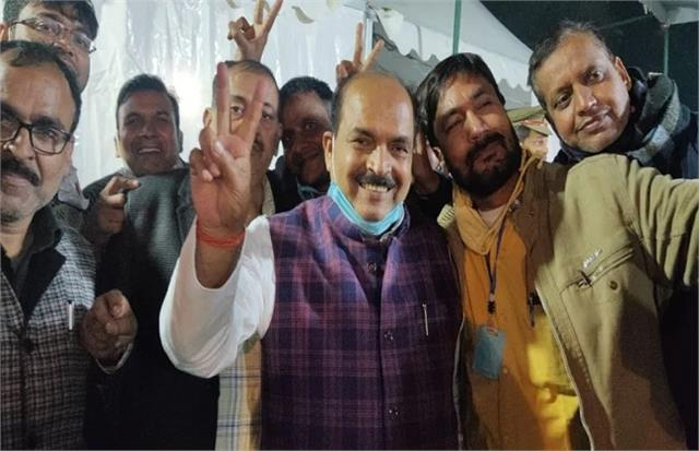 up mlc election result dhruv kumar tripathi scored a hat trick of victory