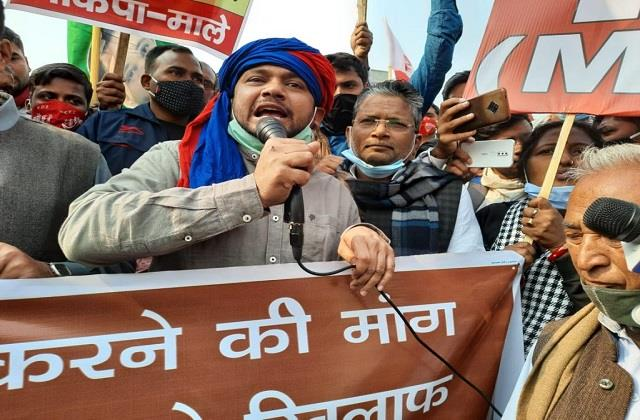 kanhaiya kumar attacked modi government regarding agricultural laws