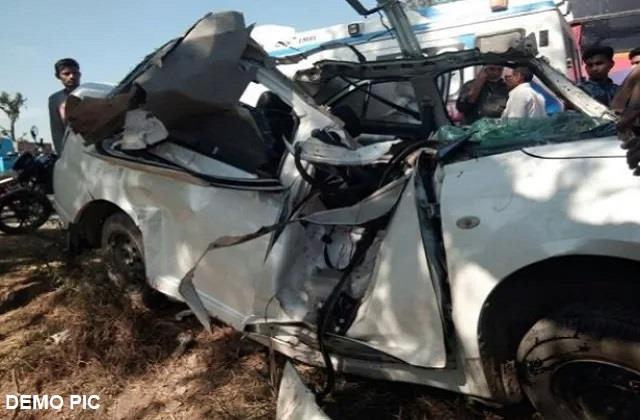 giridih tragic death of three people of same family in road accident