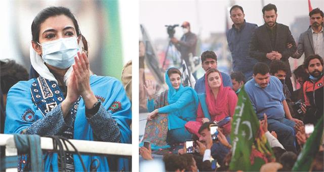 benazir bhutto s youngest daughter makes political debut at pdm rally in multan