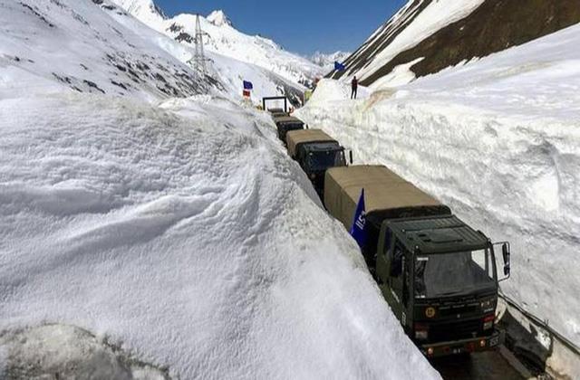 srinagar leh highway opened after a week