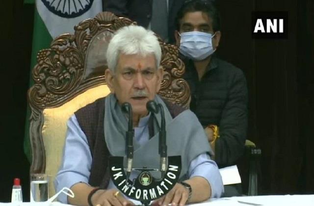 elected ddc representative jammu and kashmir heights development manoj sinha