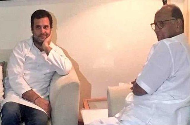 congress angry over sharad pawar s remarks on rahul gandhi