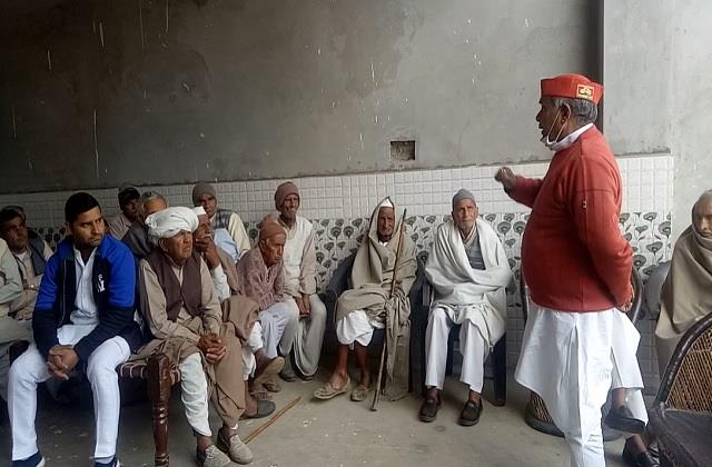 samajwadi party opposes agriculture law by imposing chaupal