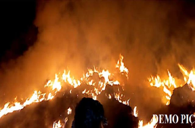 criminals set fire to paddy crop worth rs 1 5 lakh investigation started