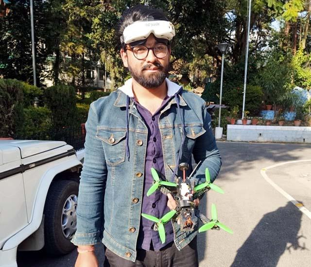 akshay mishra made first person view racing drone