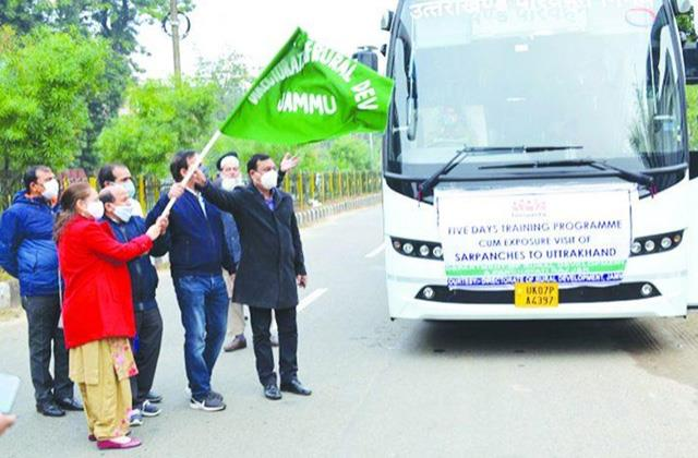 delegation of sarpanches from jammu and kashmir leaves for uttarakhand