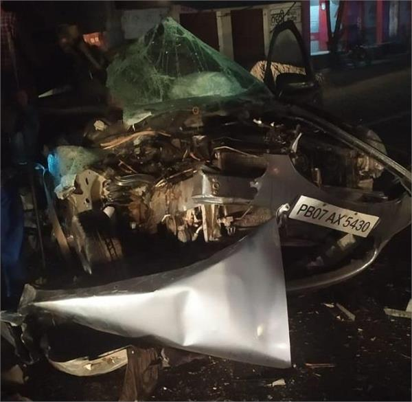 road accident car tractor death
