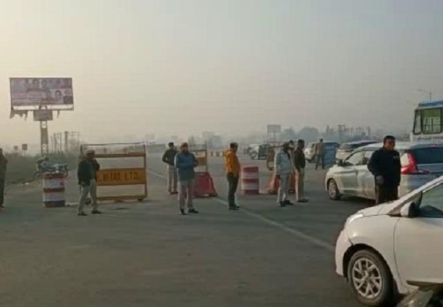 route divert on kmp and kgp expressway to delhi