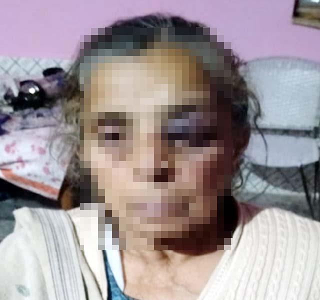 neighbors beating the elderly woman