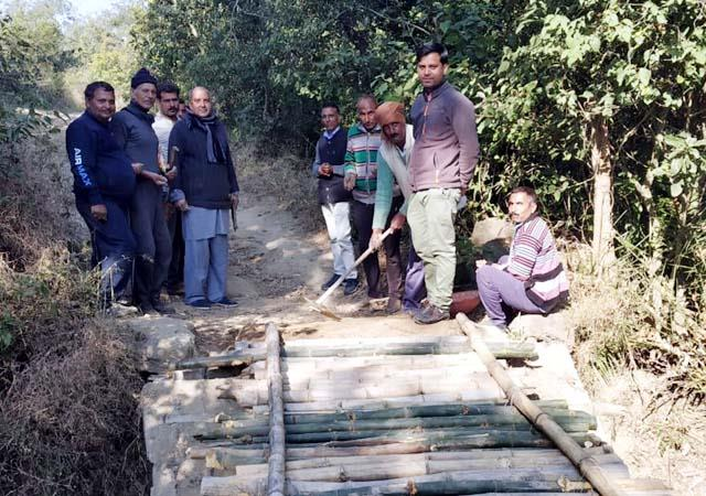 villagers create culvert themselves