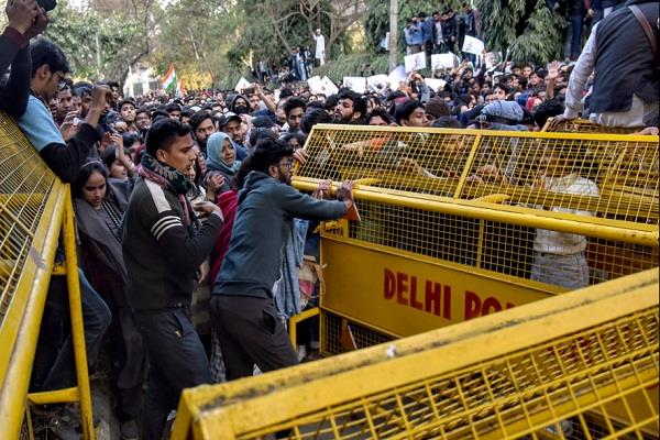 demonstration outside jamia ends after release of four detained protesters