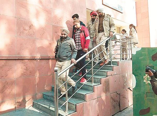 kashmiri youth caught in jalandhar including rdx and ak 47 presented in court