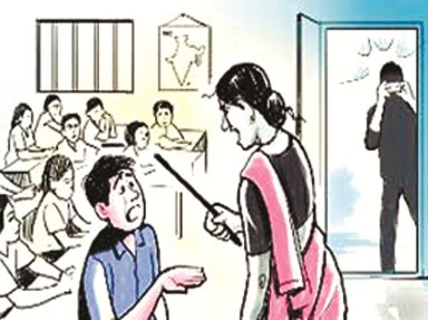 unhappy with the slapping of the teacher the class 12th student cut her nerves
