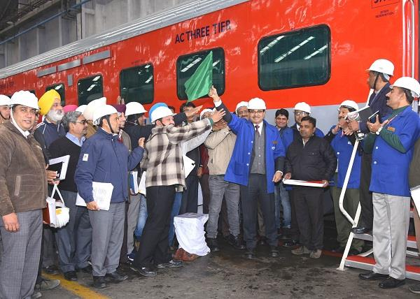 1000th coach of the year departs from rail coach factory kapurthala