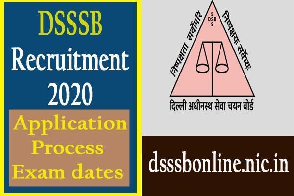 dsssb recruitment 2020 for 3552 teachers posts