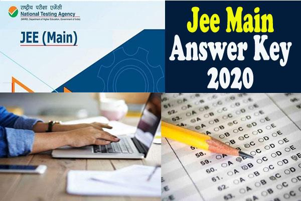 jee main answer key 2020 released