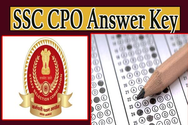 ssc cpo si answer key 2019 download