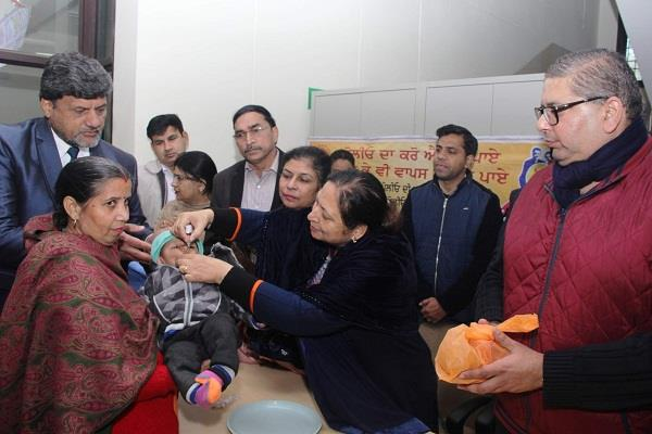 99 333 children were given anti polio drops in the district
