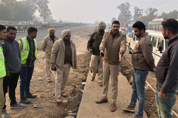 nhai engineers took look on pap flyover after traffic police letter