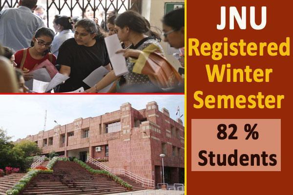 82 percent students in jnu registered for winter semester