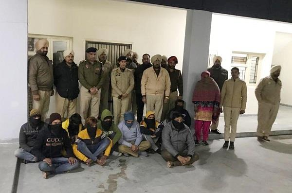 district police launched campaign against drug smugglers arrested 11 persons