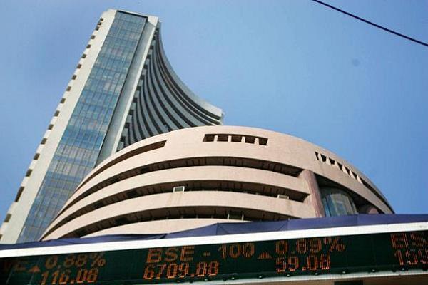 stock market in red mark