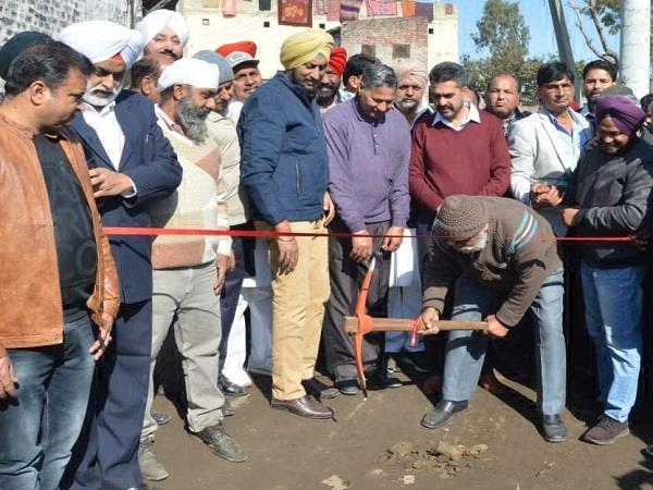 inauguration of construction work of road