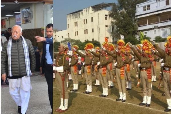 gorakhpur mohan bhagwat hoisted flag at saraswati shishu temple on republic day