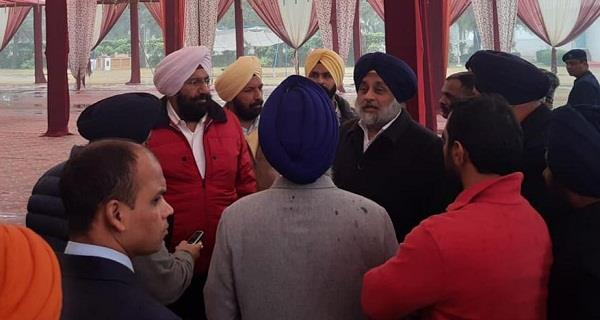 other parties shivering with cold not doing conference sukhbir badal