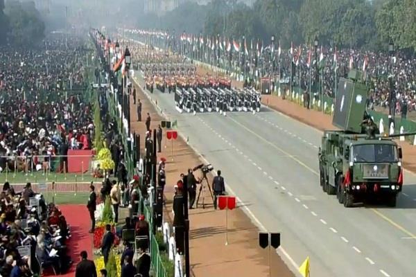 india power seen on rajpath on republic day