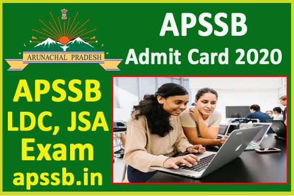 arunachal pradesh ssb ldc jsa admit card 2020
