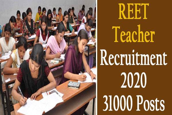 reet teacher recruitment 2020 for 31000 vacancy