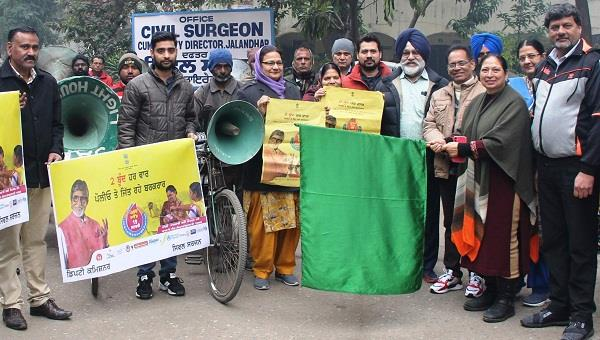 civil surgeon flagged off rickshaw for promotion of pulse polio round