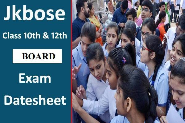 jkbose 10th 12th date sheet 2020 released
