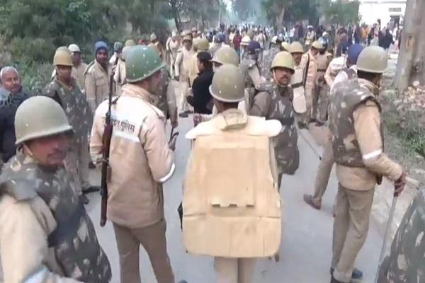 bloody clash between two sections transformed into village police camp